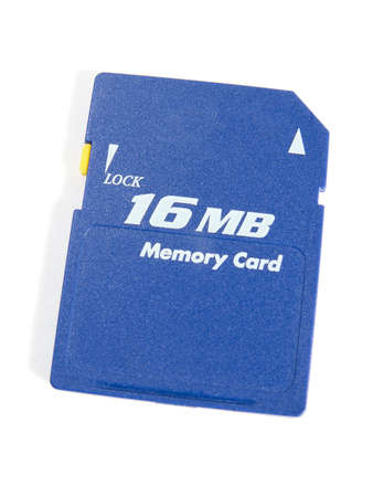 mb: Card of memory on 16 MB. The image contains a contour for cropping.