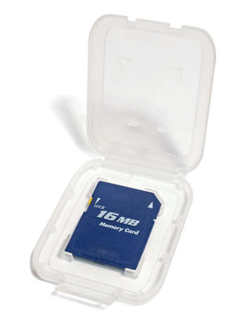 mb: Card of memory on 16 MB in packing. The image contains a contour for cropping.
