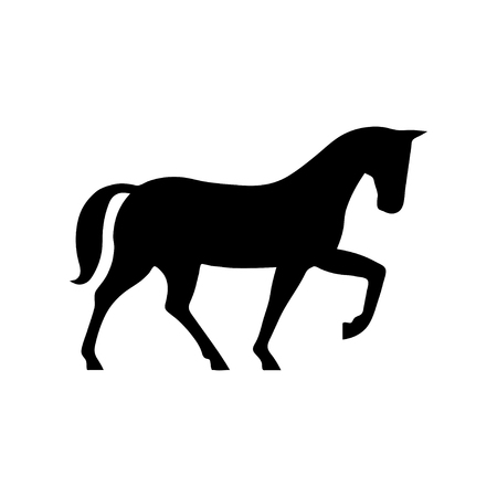 Horse Icon. Flat illustration isolated vector sign symbol Illustration