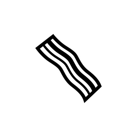 bacon strips: Bacon Icon. Flat illustration isolated vector sign symbol