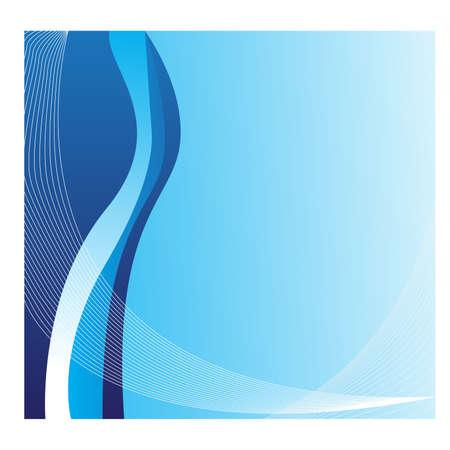 swish: Abstract blue waves Illustration