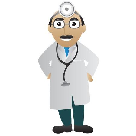 медик: Доктор с стетоскоп Иллюстрация