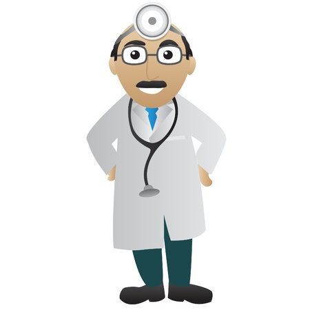a physician: Doctor with stethoscope Illustration