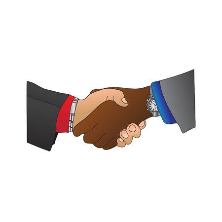 takeover: Business handshake Illustration