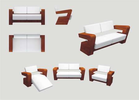 Modern Furniture for relaxation photo