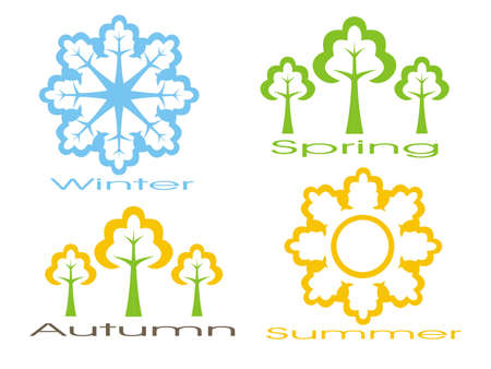 Seasons icon set
