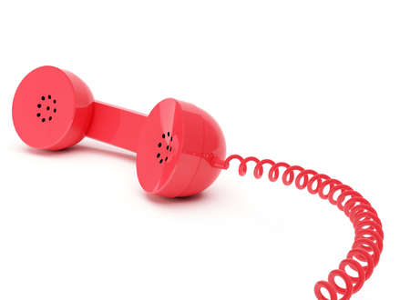 handset: Red telephone receiver