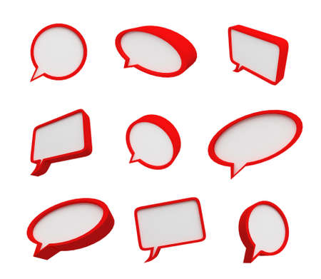 Speech bubble Standard-Bild