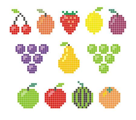 berries fruit: Pixel fruit icon