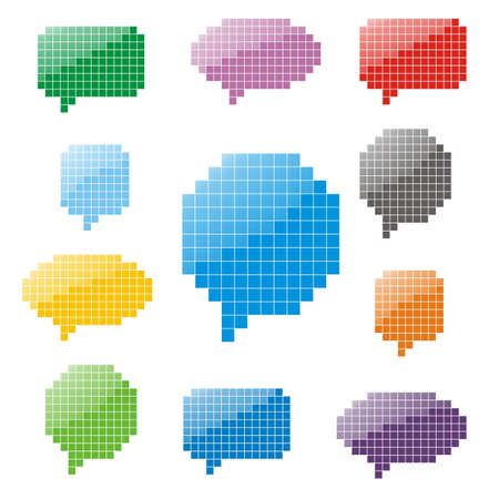 Pixel glossy speech bubbles Illustration