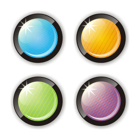 Four glossy buttons Illustration