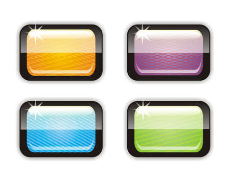 Four glossy buttons Vector