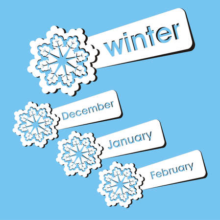 calender: winter season stickers