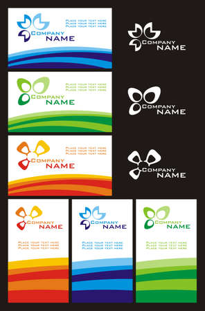vector business card set Vector