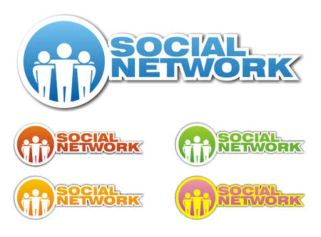 Social network icons. Vector illustration Vector