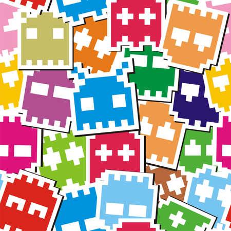 invaders: Pixel patr�n de monstruo sin fisuras
