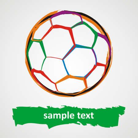 Grunge soccer ball 免版税图像 - 14150601