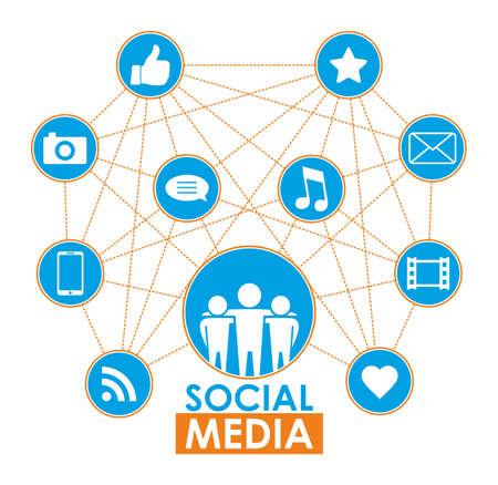 social media concept: Social media concept Illustration