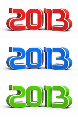 New year 2013 3d render Stock Photo