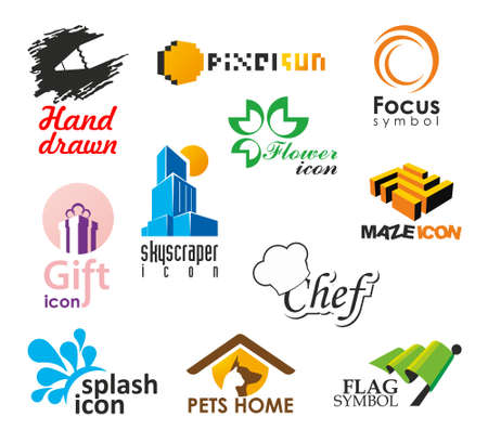 Set of vector icons and symbols