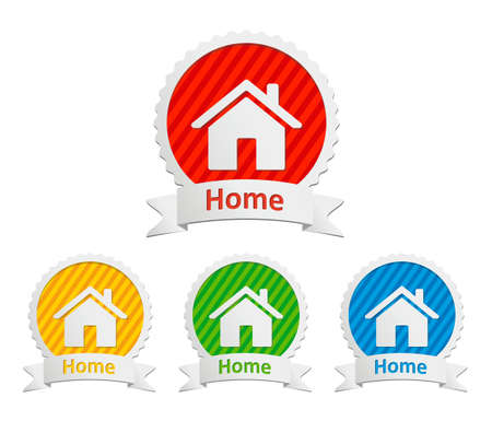 home icon: set of vector home icon