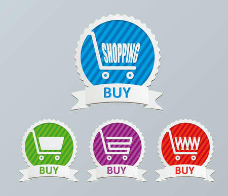 Vector shopping cart - buy icons Illustration
