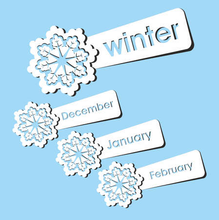 Winter season stickers. Vector illustration.  Stock Vector - 16307480