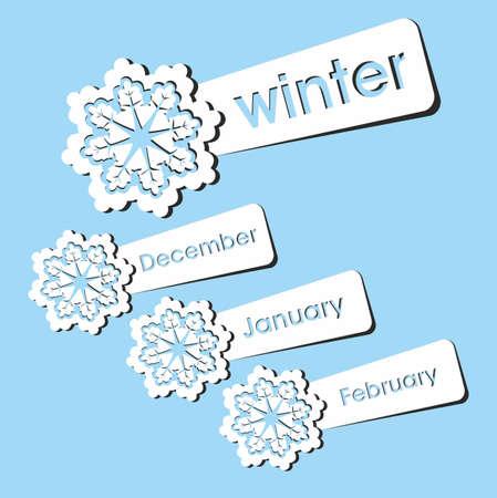 Winter season stickers. Vector illustration. Stock Vector - 16307480