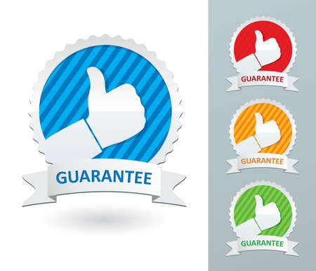 set guarantee labels Stock Vector - 18648742