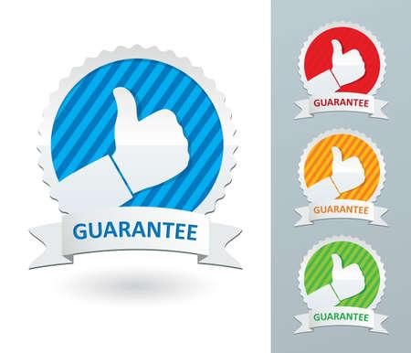 set guarantee labels Stock Vector - 18648742