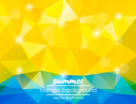 Summer triangle background for your text  Vector illustration Vector