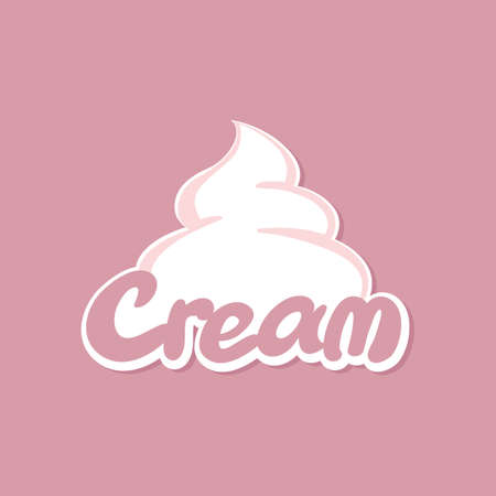 Whipped cream on purple background
