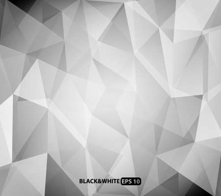 Black and white triangles background Vector