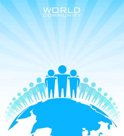 paz mundial: Comunidad mundial - ilustraci�n vectorial Vectores