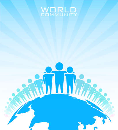 world group: World community - vector illustration  Illustration