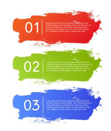 Brush strokes infographics options banner  イラスト・ベクター素材