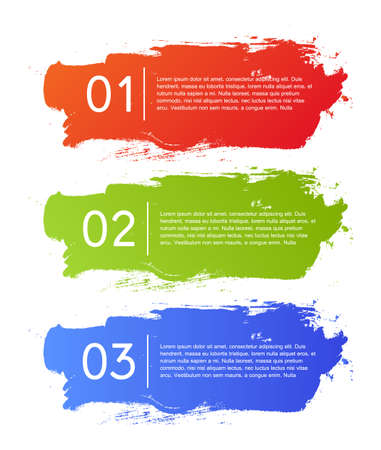 Brush strokes infographics options banner Vector