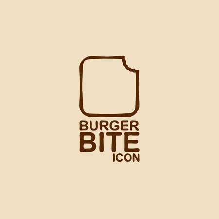 Burger bite icon  Vector illustration  Vector