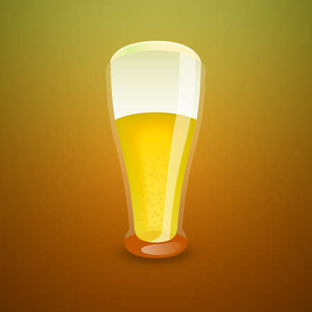 Glass of light beer, vector illustration Illustration