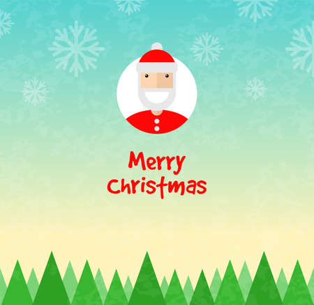 Christmas background. Santa Claus character. Flat design. Vector illustration Illustration