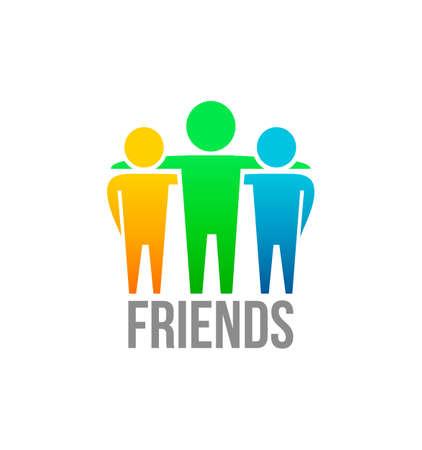 amistad: Amigos icono plantilla vector Vectores