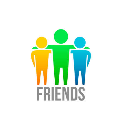 team logo: Friends icon design vector template