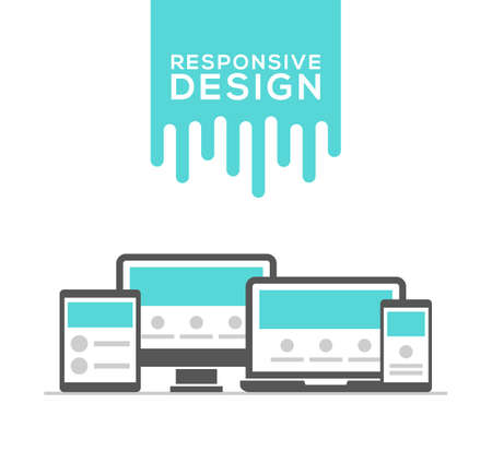 Responsive web design in electronic devices vector