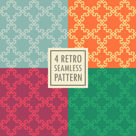 4 retro seamless pattern set