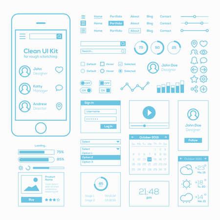 Clean Mobile Web UI Kit
