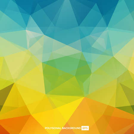 Multicolored Polygonal Background. illustration