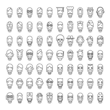 agents: 70 Happy Character People Icons
