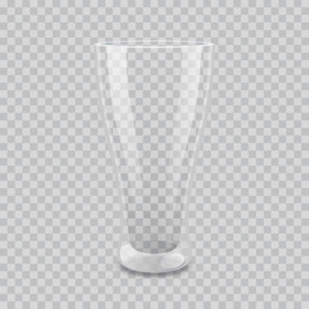 Transparent glass vector illustration Illustration