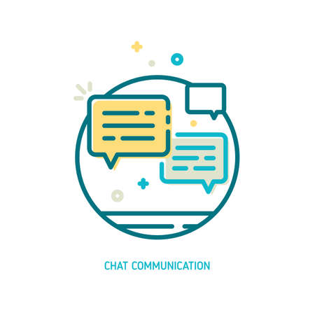 Trendy vector line chat communication icon. Message icon. Conversation icon