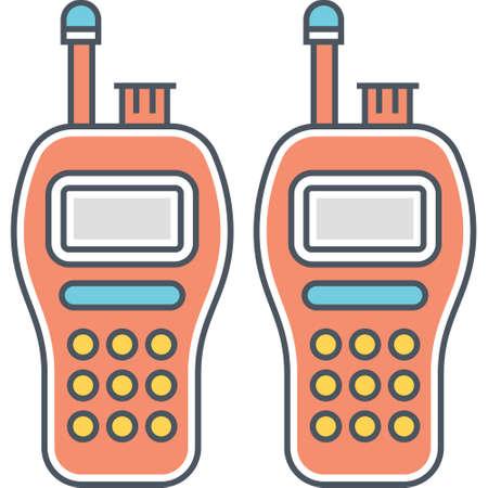 Flat vector icon of two walkie talkies illustration Vektoros illusztráció